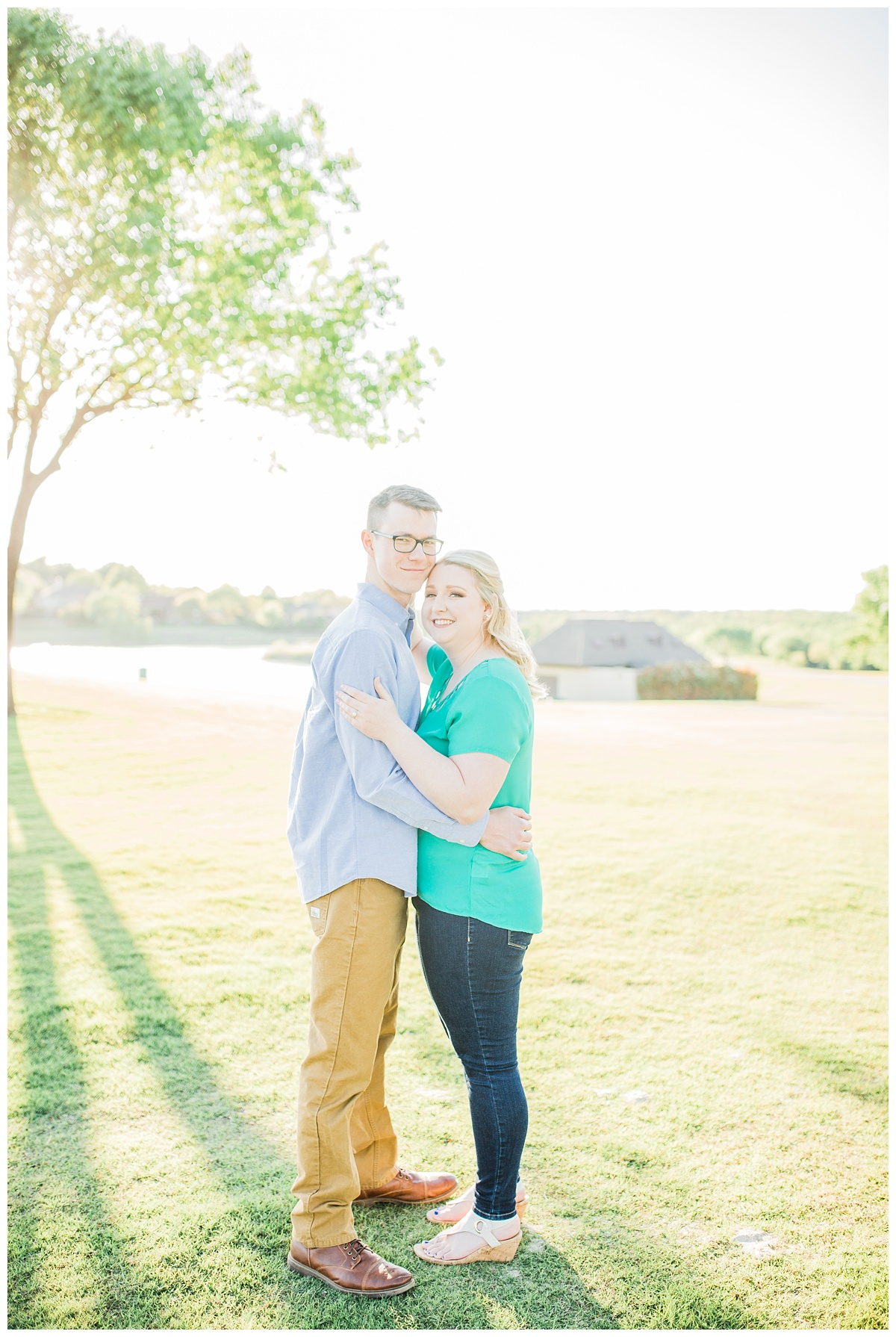 Trophy Club - Sunset - Engagement Pictures - Trophy Club Golf Course - Hannah Hays Photography - 2018 Engagement - 2019 Wedding