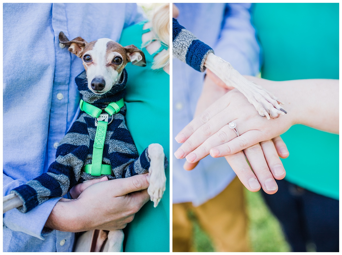 Trophy Club - Sunset - Engagement Pictures - Trophy Club Golf Course - Hannah Hays Photography - 2018 Engagement - 2019 Wedding - Dog Engagement Session