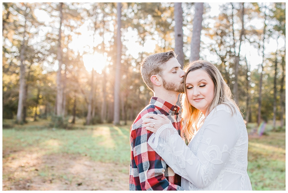 Engagement Session, Houston Texas, Hannah Hays Photography, Conroe Texas, Woods, Trees, Light, Sunrise