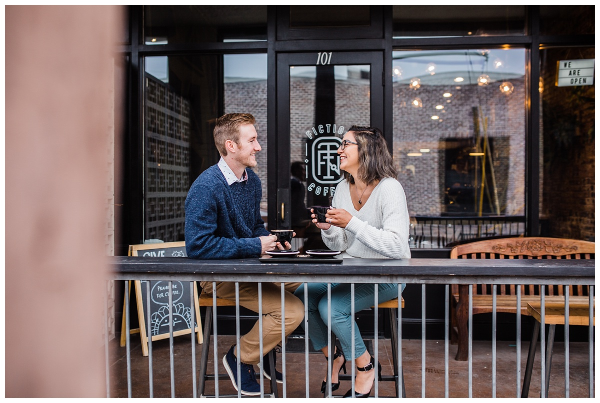 Fiction Coffee House, Dallas Engagement Session, Hannah Hays Photography, 2019 Bride
